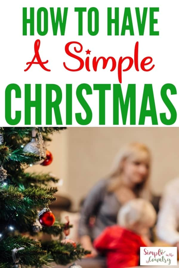 How to have a simple Christmas