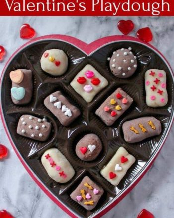 Box of chocolates Valentine's Playdough