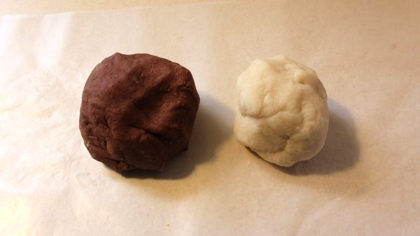 Chocolate and white Chocolate Playdough