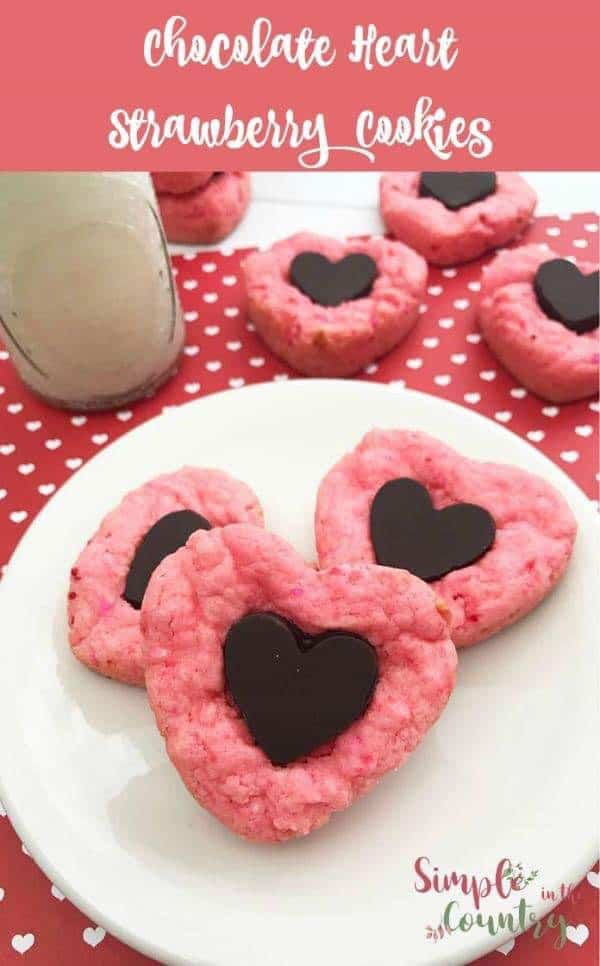 Chocolate Strawberry Cake Mix cookies