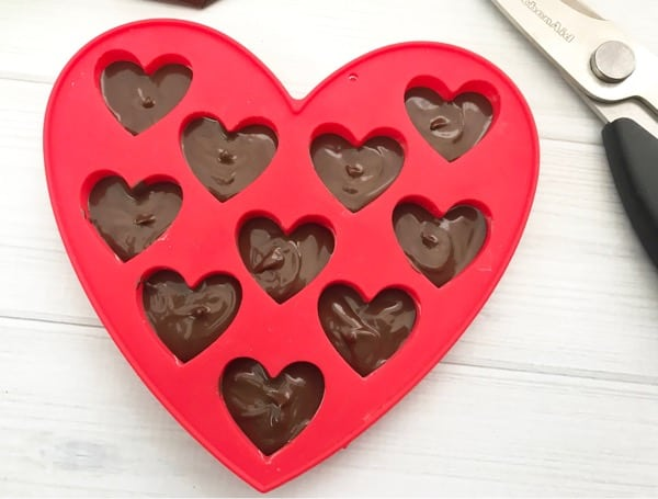 Chocolate hearts for strawberry cake mix cookies