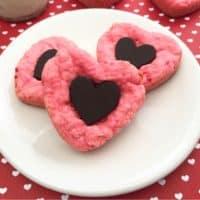 Chocolate Strawberry Cake Mix Cookies