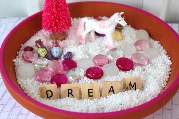 diy unicorn fairy garden