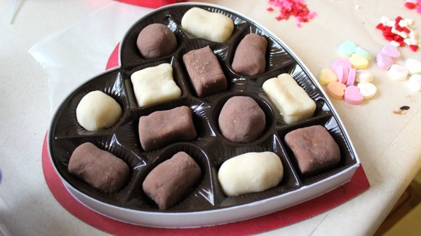 Homemade box of chocolates Playdough