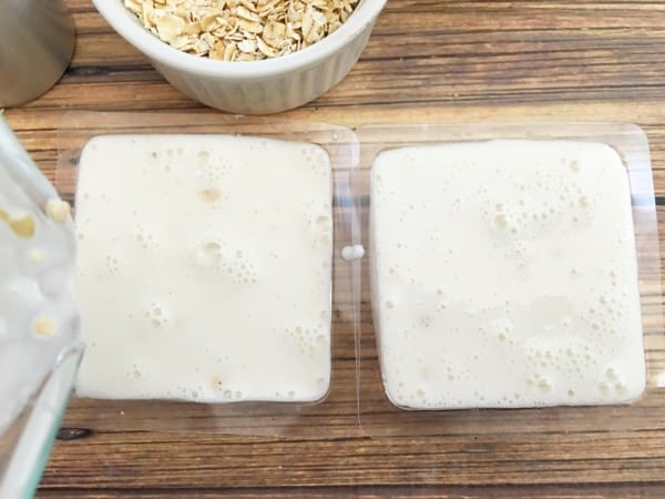 homemade honey and oatmeal soap in soap molds