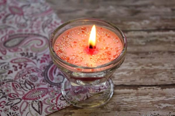 homemade rose candle recipe