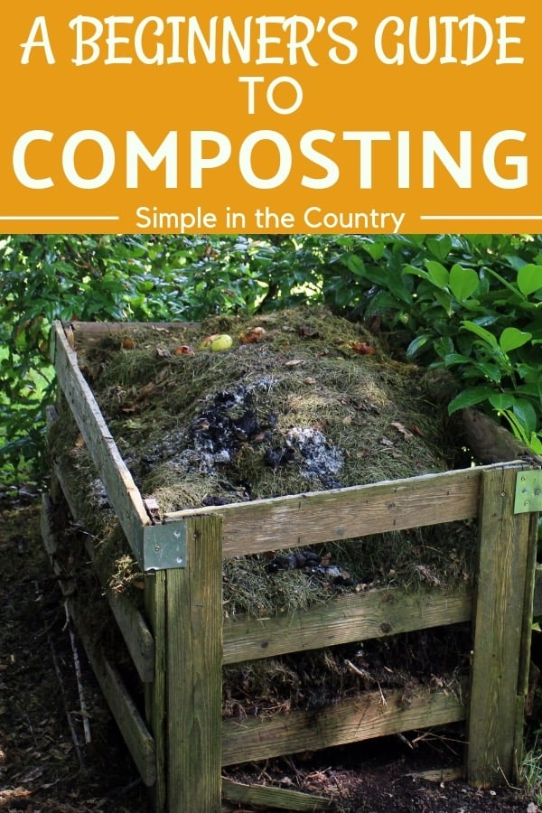 Compost in a pallet bin
