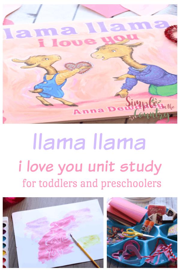 llama llama i love you Preschool Unit Study