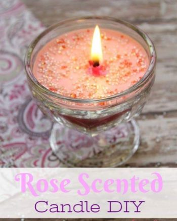 rose scented candle diy