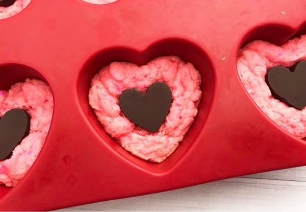 Valentine's cake mix cookies