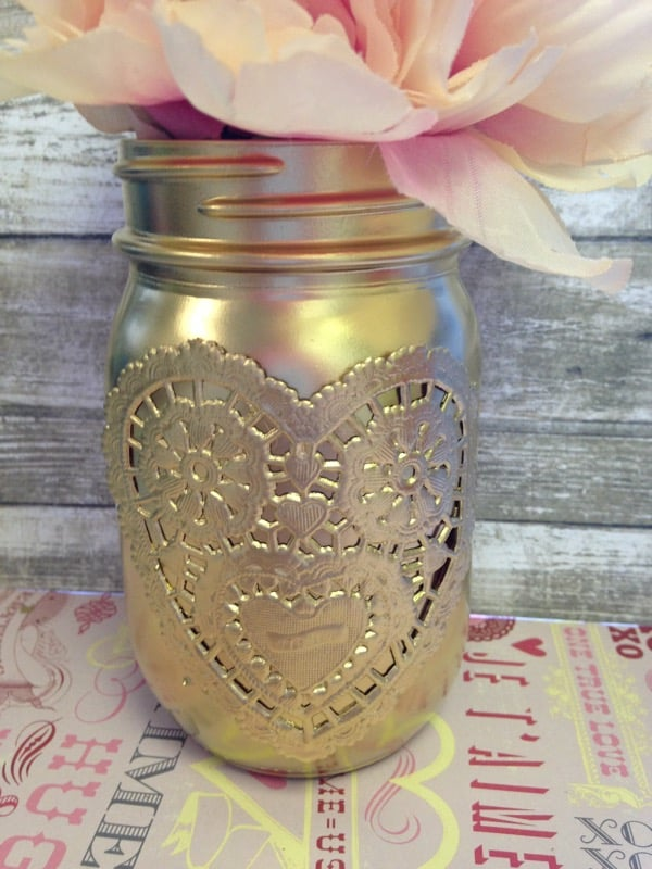 Gilded Gold Mason Jar Craft