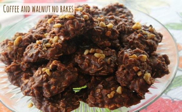 Espresso Walnut no bake cookies