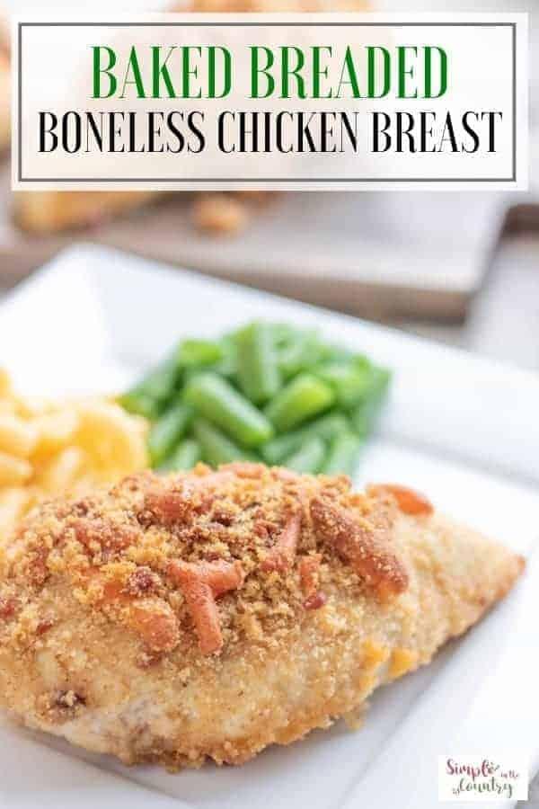 Breaded Baked Boneless Chicken Breast