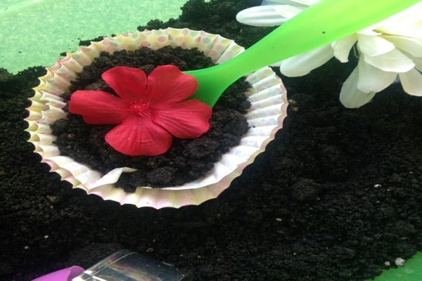 Sensory flower garden bin