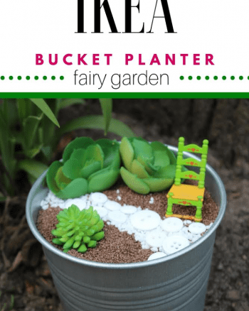 IKEA bucket fairy garden