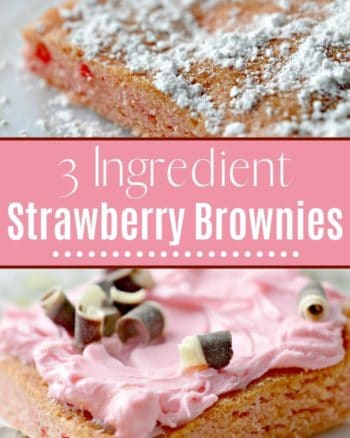 3 Ingredient Strawberry Brownies