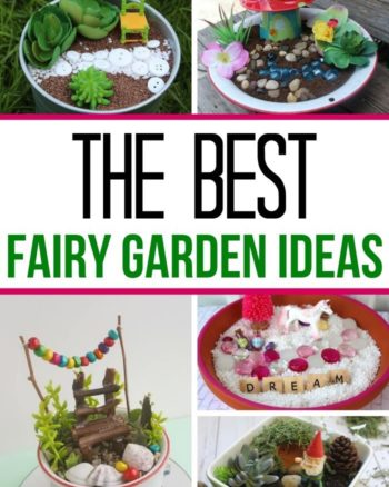 Collage of the best fairy garden ideas