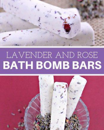 Lavender and rose bath bomb bars