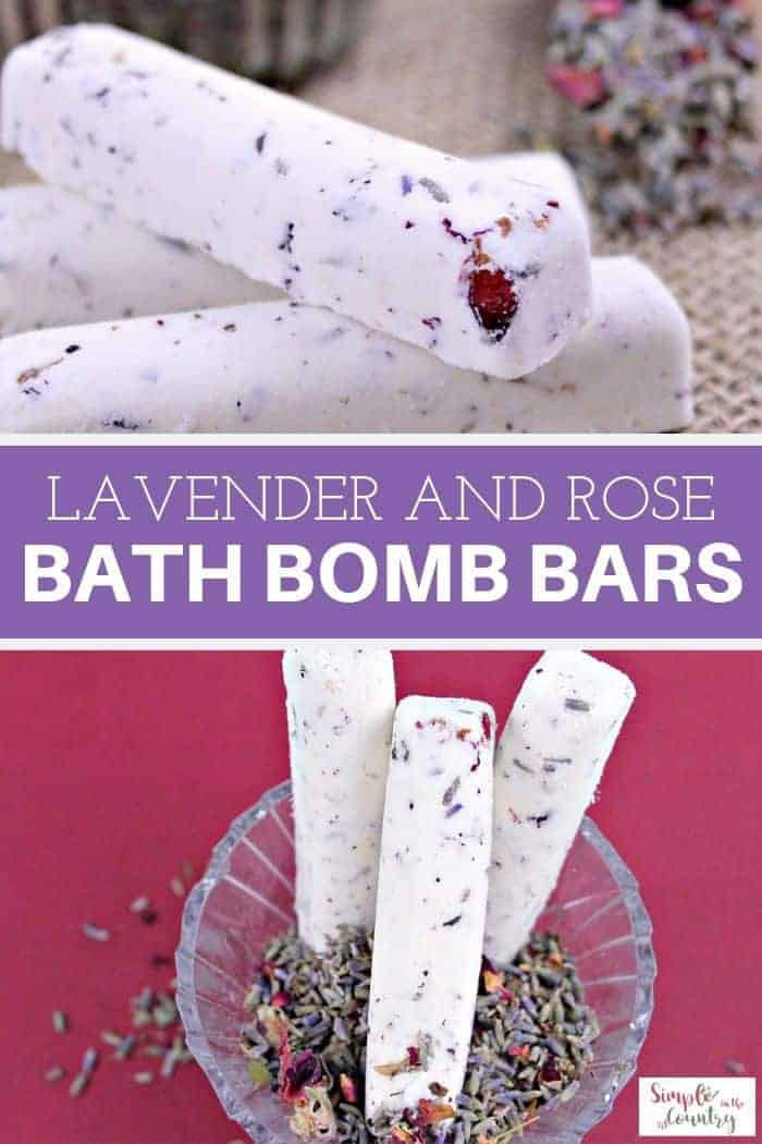 Lavender and rose bath bomb bars