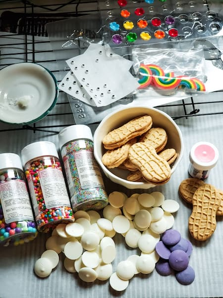 ingredients needed for nutter butter unicorn cookies