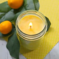 Homemade Lemon Scented Candle