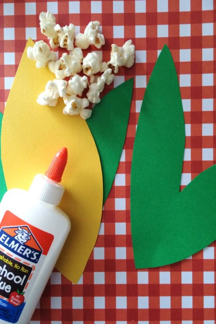 Kids popcorn Craft