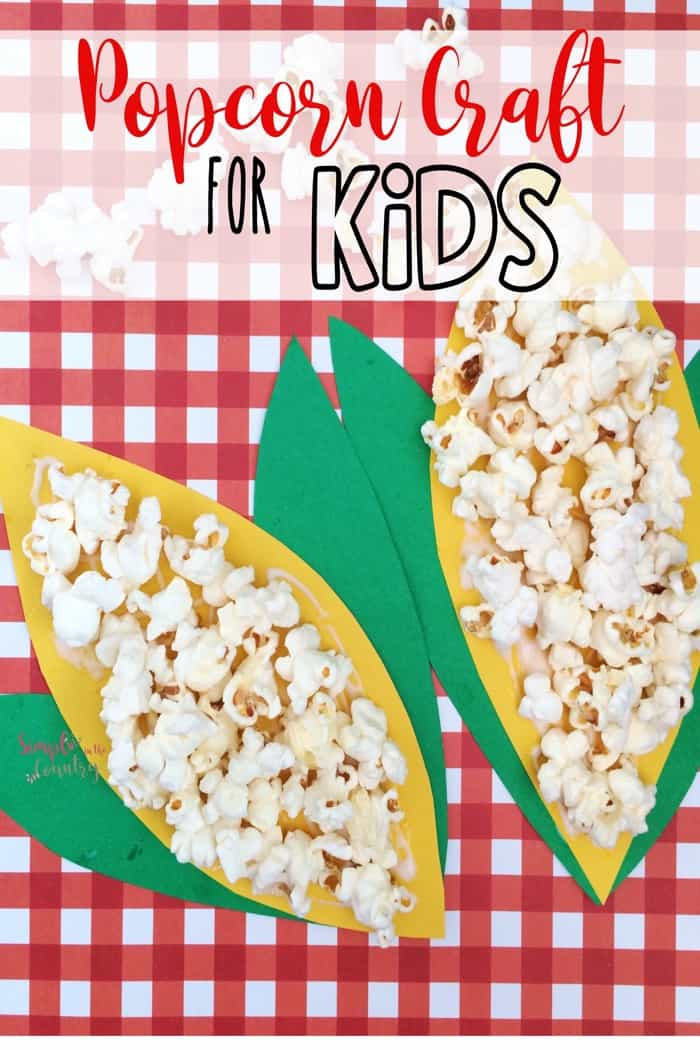 Popcorn Craft for kids