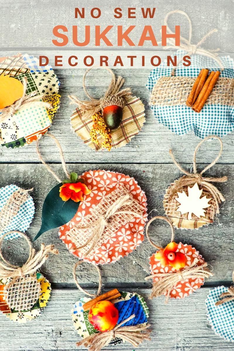 no sew sukkah decorations