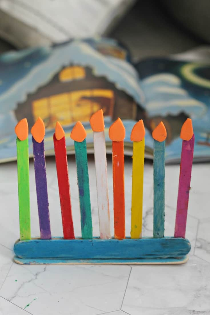 popsicle stick menorah