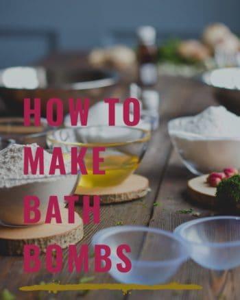 Making homemade bath bombs