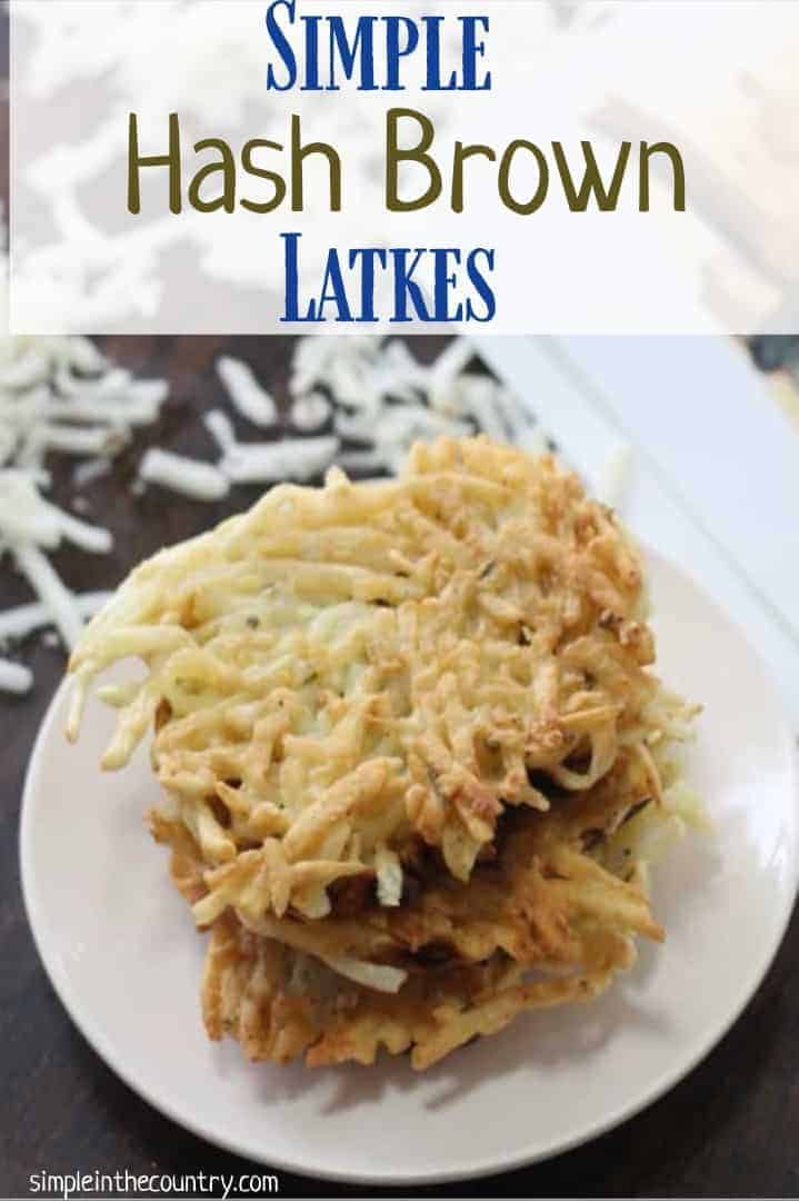 Simple hash brown latkes