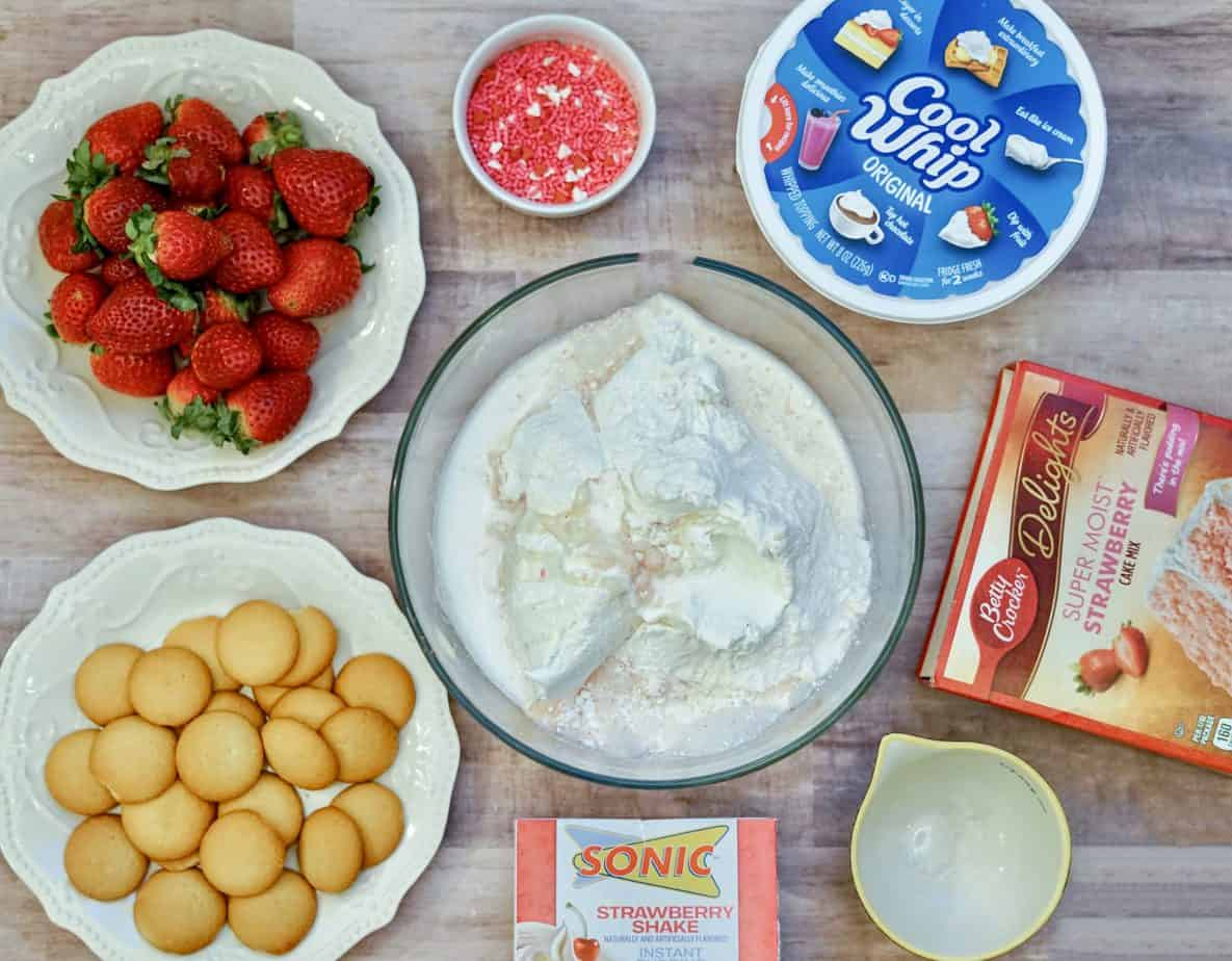 strawberry pudding cake mix dip